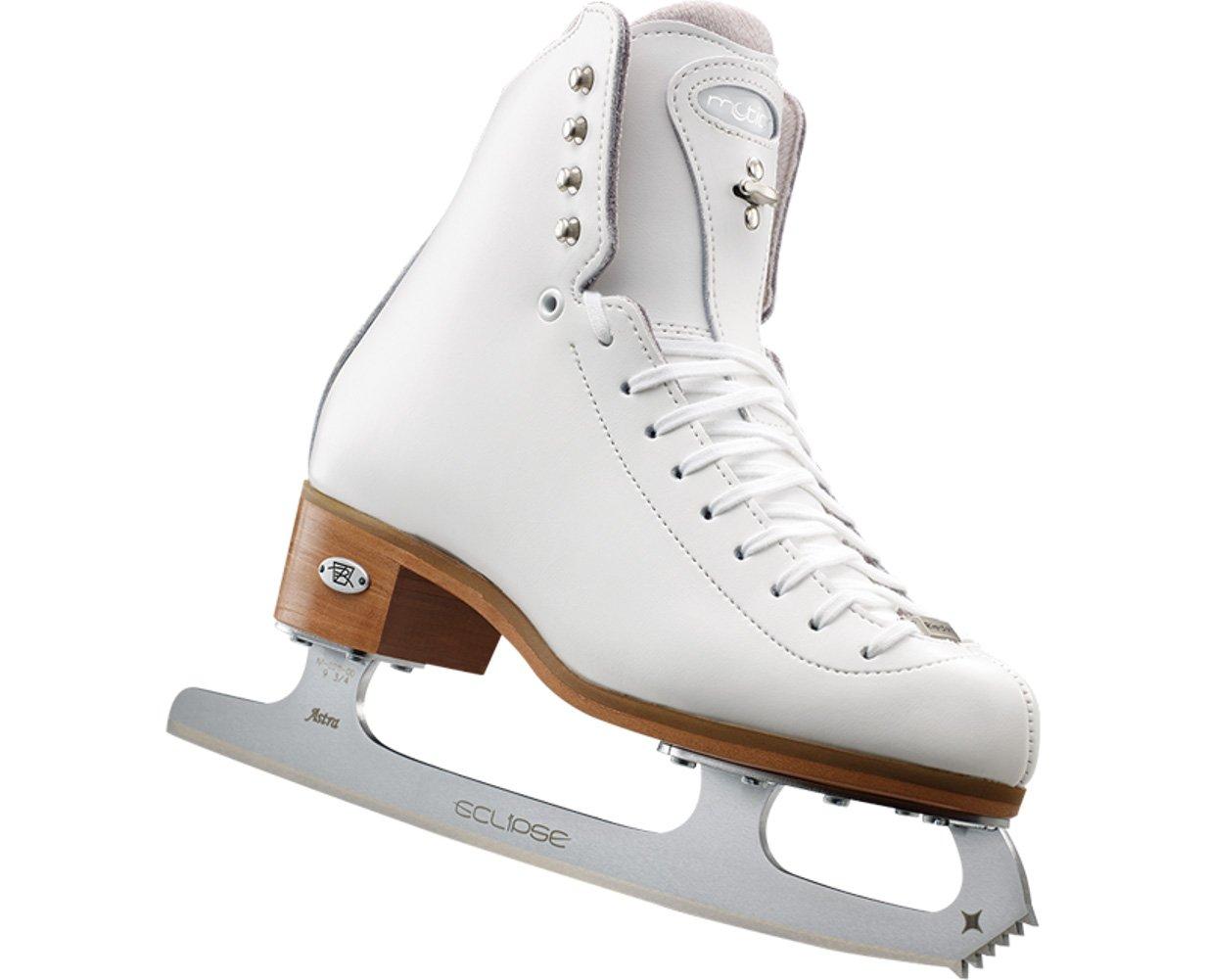 Riedell 25 Motion - White Girls Figure Skate Wide 3.5