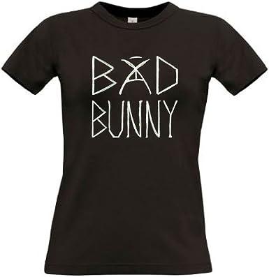 Camiseta Bad Bunny Blanca Mujer Trap Algodon Premium 190grs: Amazon.es: Ropa y accesorios