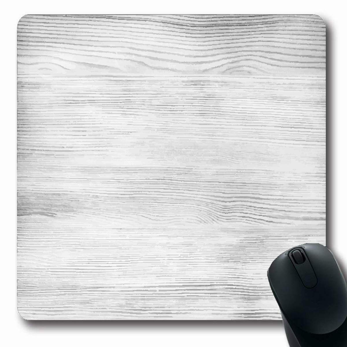 Tobesonne マウスパッド ストライプ ネイビーパターン 抽象 ヴィンテージ表面 インディゴ オールドデニム モダンデザイン ウォッシュ加工 長方形 7.9 x 9.5インチ ノンスリップ ゲーム用マウスパッド ゴム 長方形マット 7.9