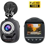 "iGOKU Mini Dash Cam 1080P Full HD 1920x1080, 140° Wide Angle, 1.5"" LCD Dash Camera for Cars with Built-in G-Sensor, Night Vision, Loop Recording, Parking Monitoring, WDR, Video Recorder in Car Camera"