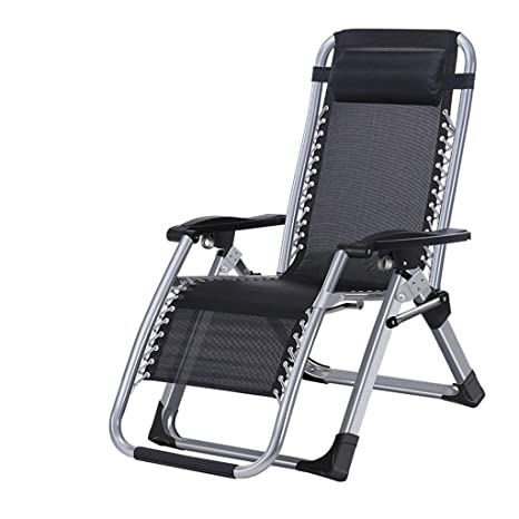 Lounge Chair Silla Plegable para Exteriores con reposapiés y ...