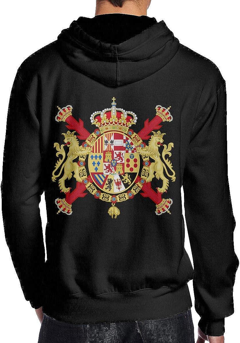Royal Coat of Arms of Spain Mens Hoodie Hooded Sweatshirt