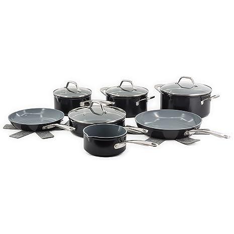 Batería de cocina meiros 11 piezas, cerámica 3d – Laguiole calidad Pro