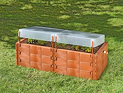 Exaco Trading Co. Twin Box 20375 Raised Bed with Cold Frame by Exaco