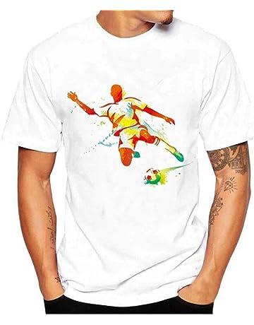 Camiseta Deportiva de fútbol de Manga Corta para Hombre