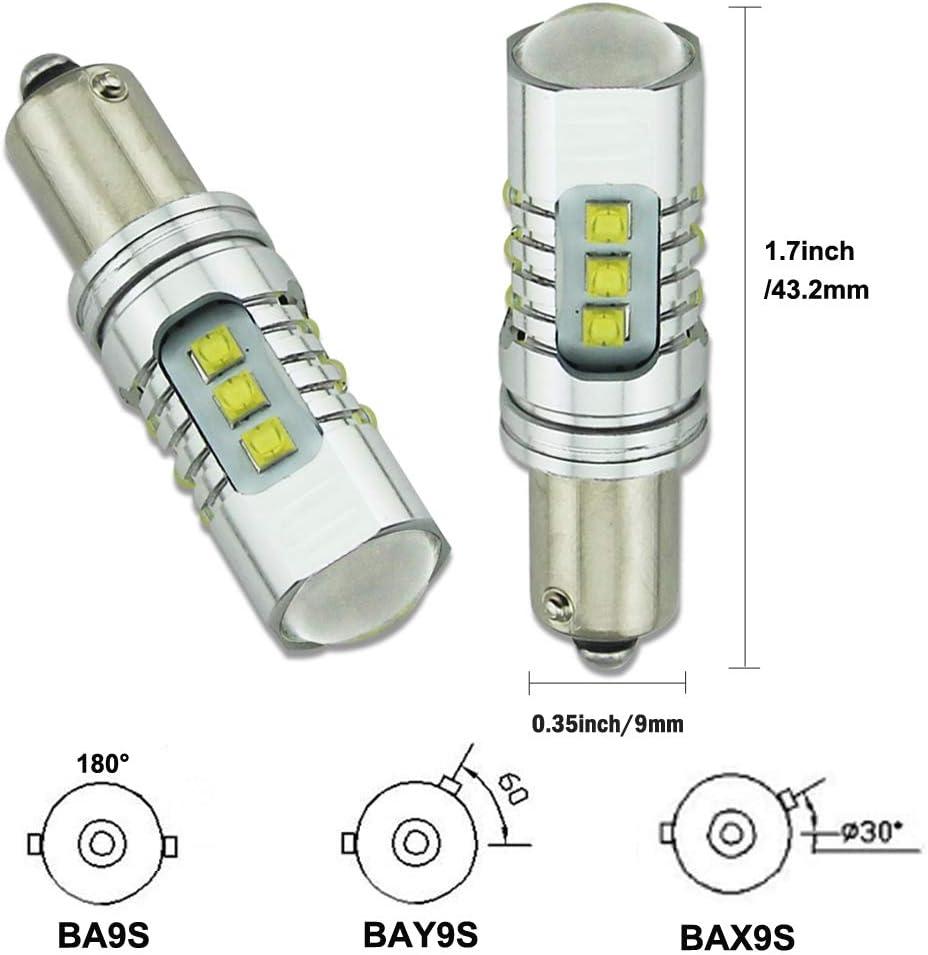 haute puissance Xb-d Chipsets 4800lm extr/êmement lumineux ampoules avec CANBUS erreur gratuit pour lecture Indicateur de lumi/ère 6000/K Blanc Lot de 2 Hsun Bay9s ampoules et bien plus encore