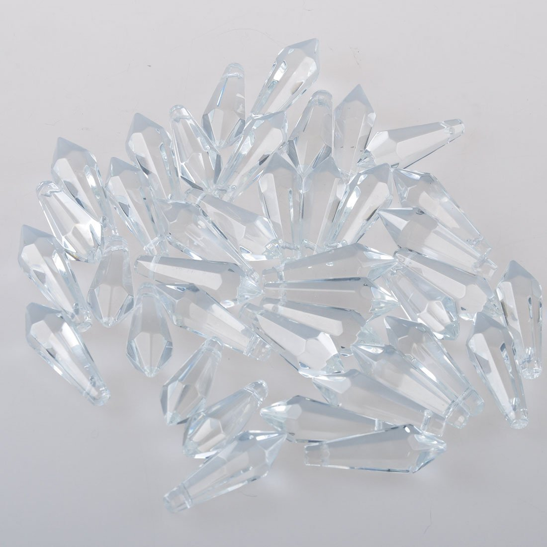 Sun Cling 100mm Ox Leg Icicle Crystal Prisms,Pack of 10