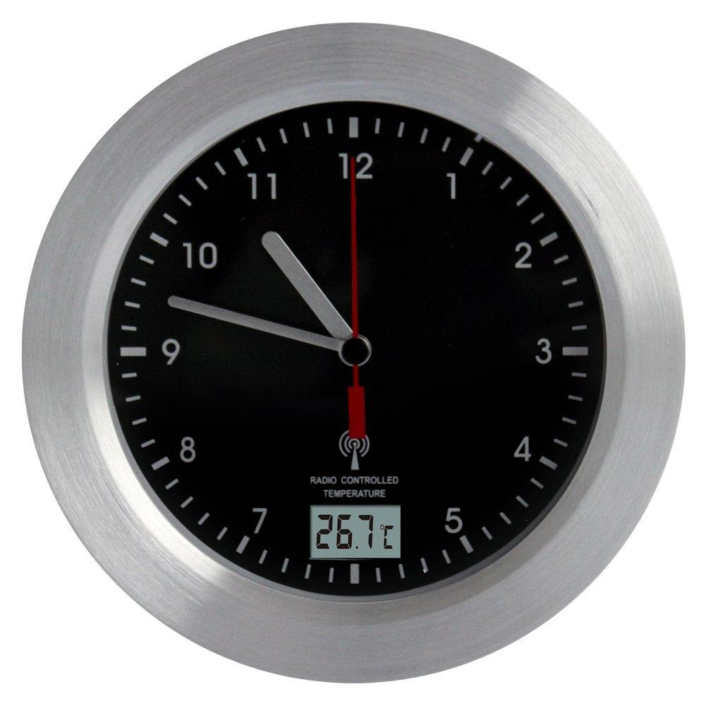 Orologio da doccia, in plastica ABS e alluminio, Radio, guidato temperatura c-IP24° Fishtec ®