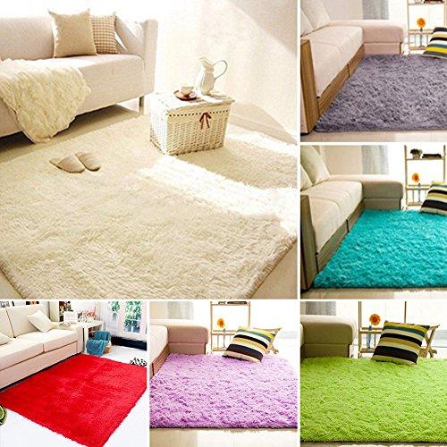 Price comparison product image ywbtuechars Indoor Floor Decorative Mats Home Living Room Bedroom Floor Carpet Mat Soft Anti-Skid Rectangle Area Rug - Silver Gray 4060cm