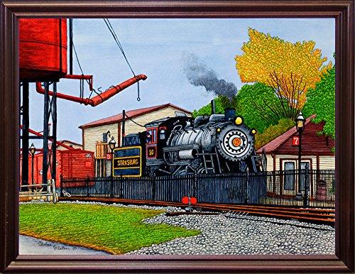 Strasburg Cherry - Frame USA Engine #90 At The Water Tower, Strasburg Pa-THEWIN90462 Print 5.25