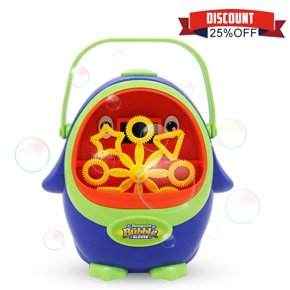 Wokashaka Bubble Machine for Kids Penguin Automatic Durable Bubble Blower