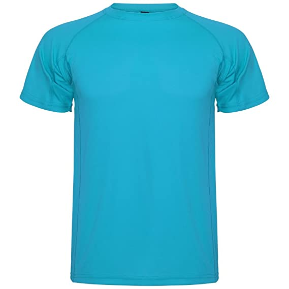 Roly Camiseta técnica para Hombre Montecarlo, Turquesa: Amazon.es: Ropa y accesorios