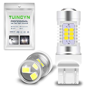 TUINCYN 1156 BA15S P21W luces de giro LED, color blanco, canbus ...