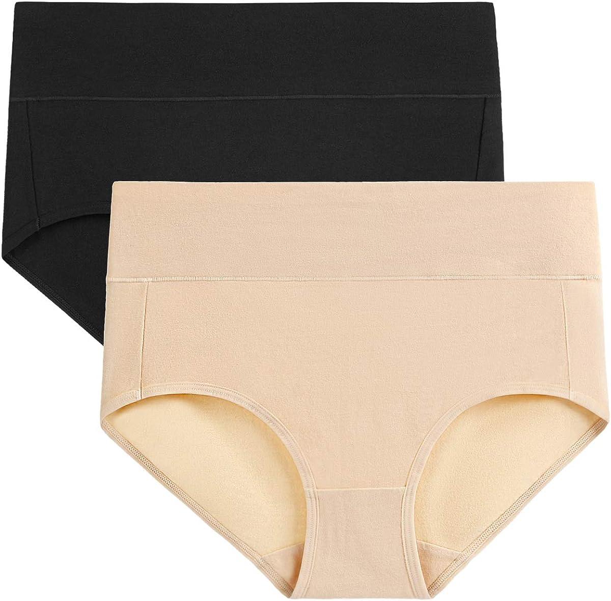 wirarpa Damen Unterhosen Baumwolle Slip Damen High Waist Taillenslip Wochenbett Unterwäsche Kaiserschnitt Unterhose Mehrpack