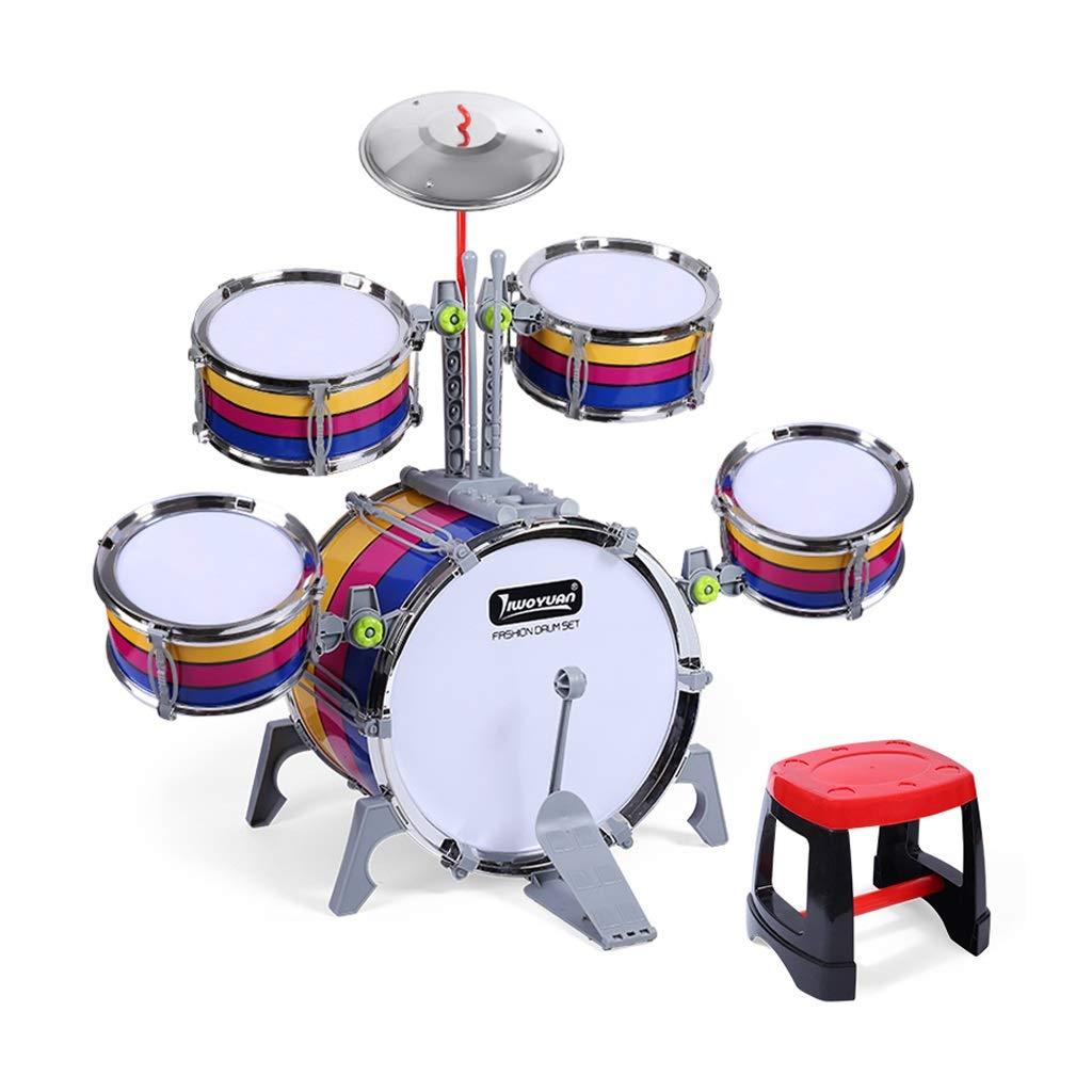 LIUFS-Trommel Kinder Drums Drums Musik Lernspielzeug Percussion Babys Frühe Bildung Beat Drums Striped Models (größe : 5 drums)