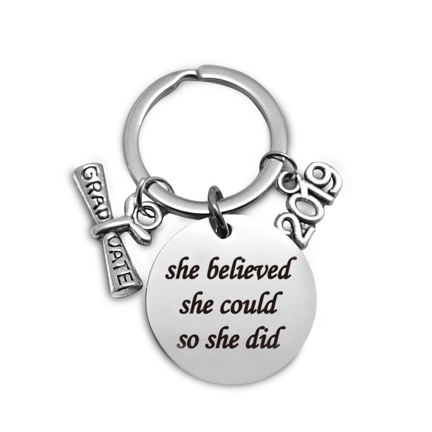 Inspirational Motivational Quotes Stainless Steel Key Chain Ring, Best  Sisters Friends Girls Quotes Keychain Gifts