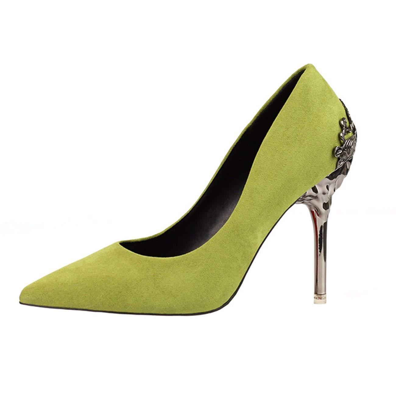 QPGGP-schuhe Euro - amerikanischen gut betuchte super hochhackige Damenschuhe mit Wildleder Elegante angepitzten Kopf und eine breite Palette von high Heels