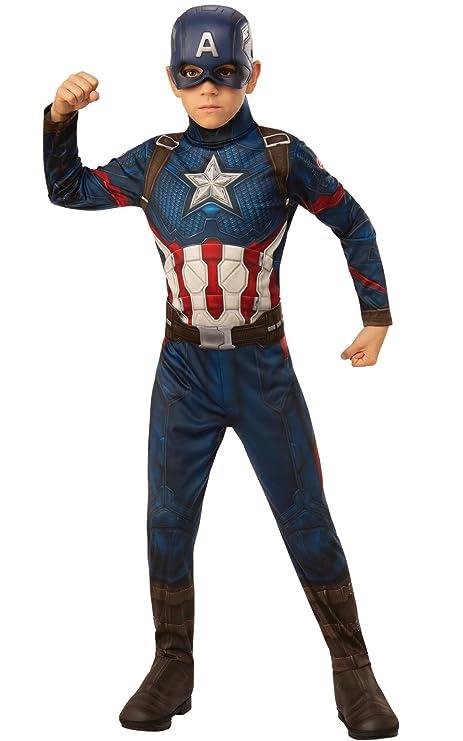 Amazon.com Rubie\u0027s Marvel Avengers Endgame Child\u0027s Captain America Costume  \u0026 Mask, Small Toys \u0026 Games