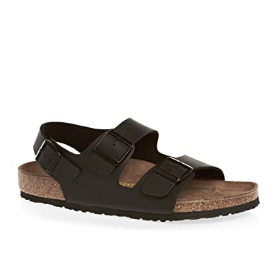 7e974d4eb77 Birkenstock Sandals Genuine Milano Black Womens Shoes Sizes UK 3-8 (UK 5
