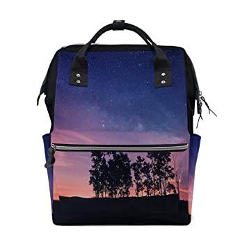 Amazon com: Fashion Diaper Bags Mummy Backpack Starry Sky Sunset