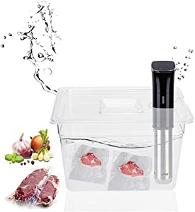 Sous Vide Container, 11L Collapsible Hinged Sous Vide Container, for Anova Culinary Precision Cookers, Souise Vide Cooker with Lid