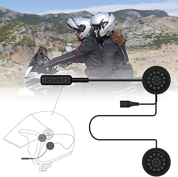 VR-robot Motorcycle Helmet Bluetooth Headset,Motorcycle Intercom Headset,Wireless Helmet Heaphones,Wireless Helmet Communication Systems for Motor Motorbike Motor Helmet Headset 4330244144