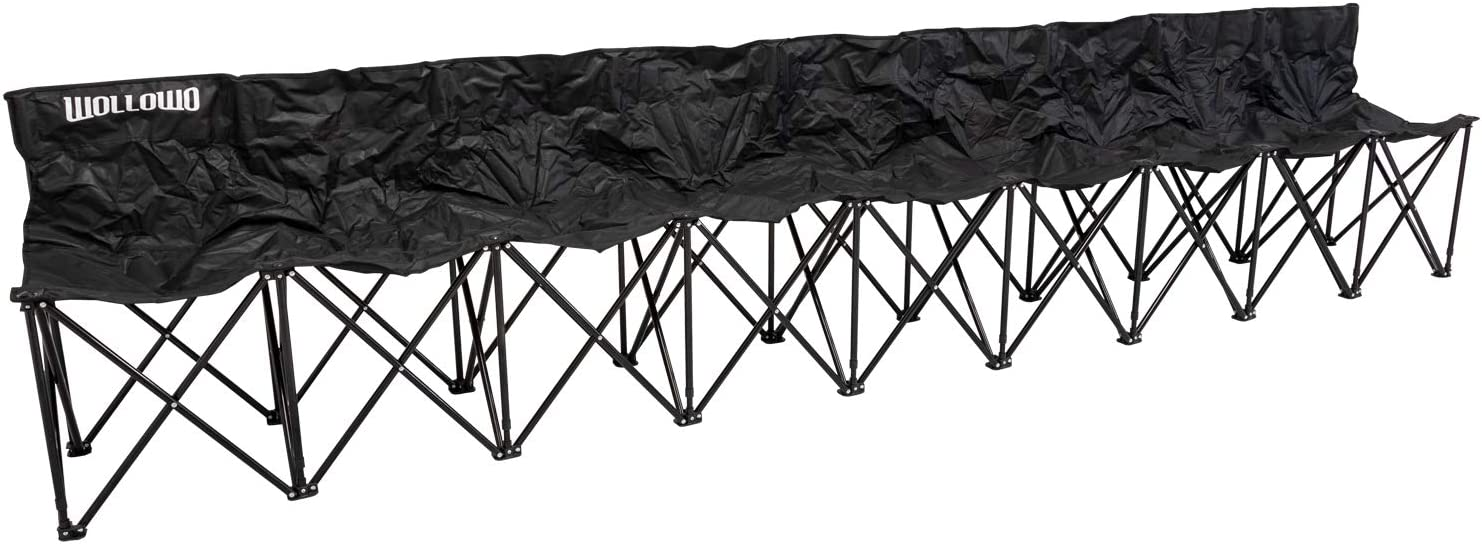 Outdoor Camping//Picnic Family Seat Wollowo 6 Seater Folding Football Team Bench