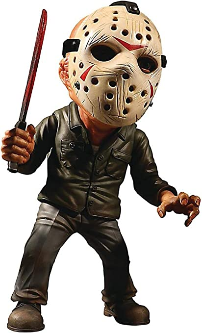 "w//Glow in Dark Mask MEZCO FRIDAY THE 13TH STYLIZED 6/"" BLOODY JASON FIGURE"