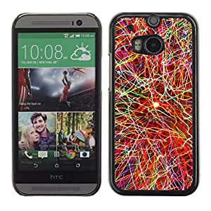 CASEMAX Slim Hard Case Cover Armor Shell FOR HTC One M8- COLOR EXPLOSION