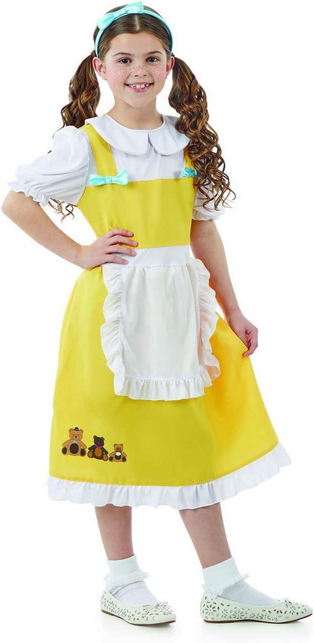 Fun Shack Amarilla Ricitos De Oro Disfraz para Niñas - S: Amazon ...