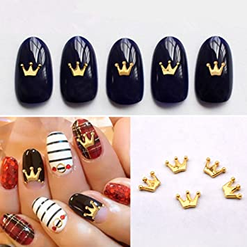 Amazon Fantasyday 100pcs 3d Nail Art Rhinestone Lovely Crown