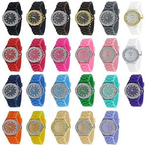 OYang ginebra de las mujeres al por mayor de platino 12 surtidos reloj (12packs)