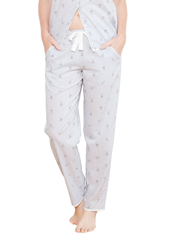 Cyberjammies 3682 Women's Beetrix Grey Motif Pajama Pyjama Pant