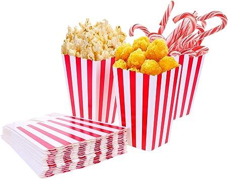 Tankerstreet Bolsas de cartón para Palomitas, Marca, 01, 24 Unidades, Rayas Rojas y Blancas, para Fiestas, niños, Regalos, cumpleaños, Cine, Teatro: Amazon.es: Juguetes y juegos