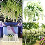 Marcherry-Artificial-Flowers-12-Pack-36-Feet-Rattan-Strip-Artificial-Fake-Wisteria-Vine-Home-Kids-Room-Garden-Hotel-Office-Wedding-Decor-Wall-Crafts-Art-Party-Decoration-White