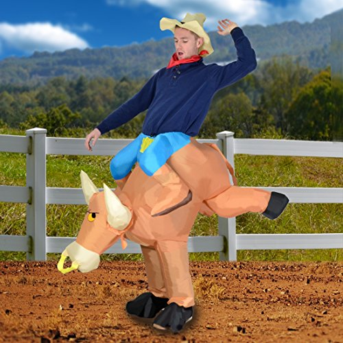 Inflatable Bull Rider Adult Costume Size Standard