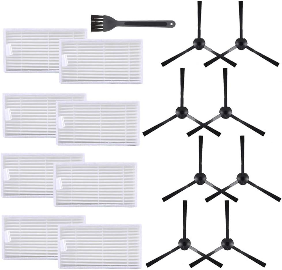Jorllina Replacement Parts for ILIFE-V3 V3S V3s Pro V5 V5s V5s proVacuum Cleaner Filters Side Brushes Kit,16 Pack