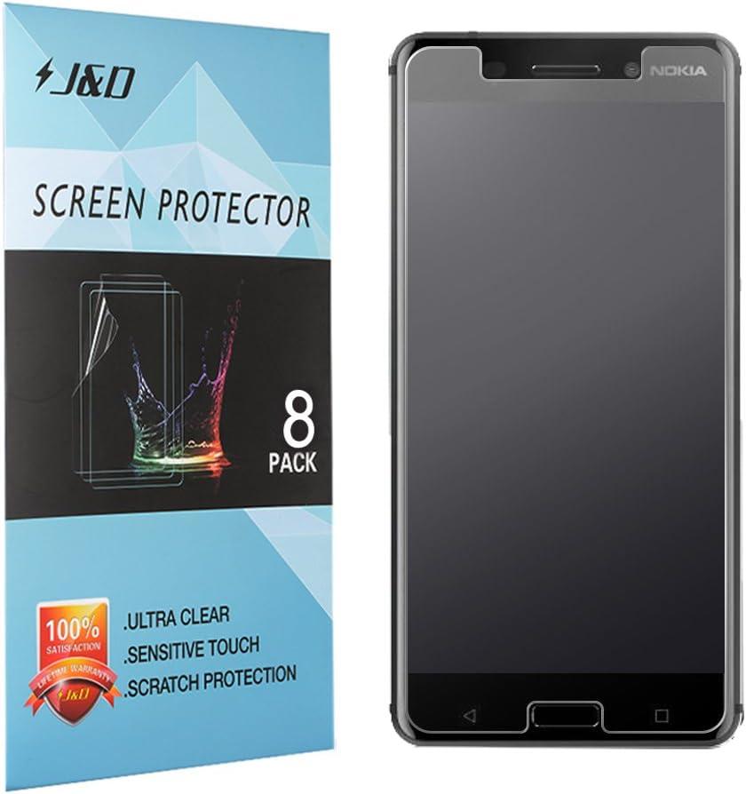 J&D Compatible para 8 Paquetes Protector de Pantalla para Nokia 6 ...