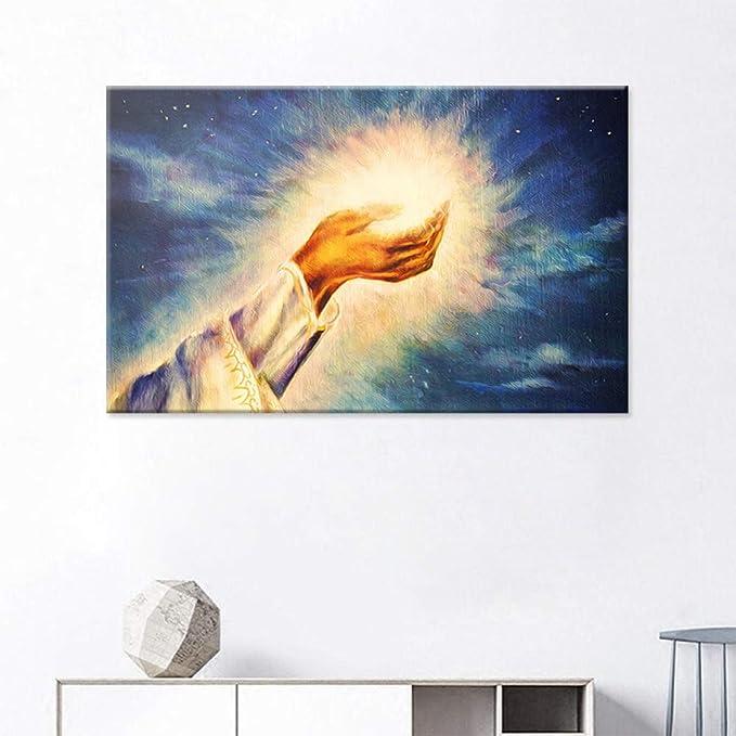 NIMCG Jesus Holy Light Pintura al óleo Cristiana Iglesia Arte ...