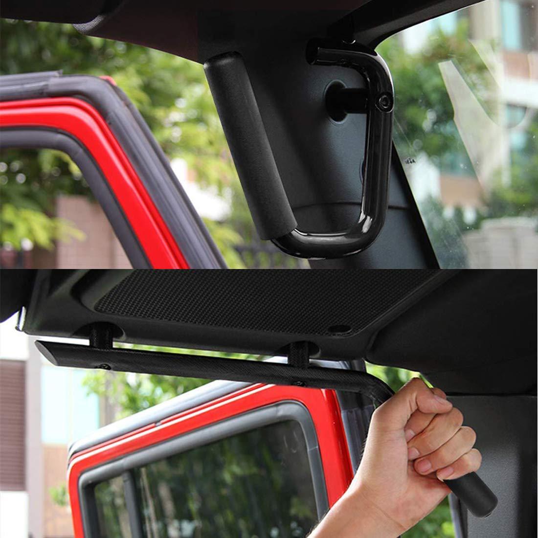 SUPAREE Black Front /& Rear Grab Bar Solid Steel Grab Handle Kit for 2007-2018 Jeep Wrangler JK JKU Sahara Sports Freedom Rubicon X /& Unlimited 2//4 Door