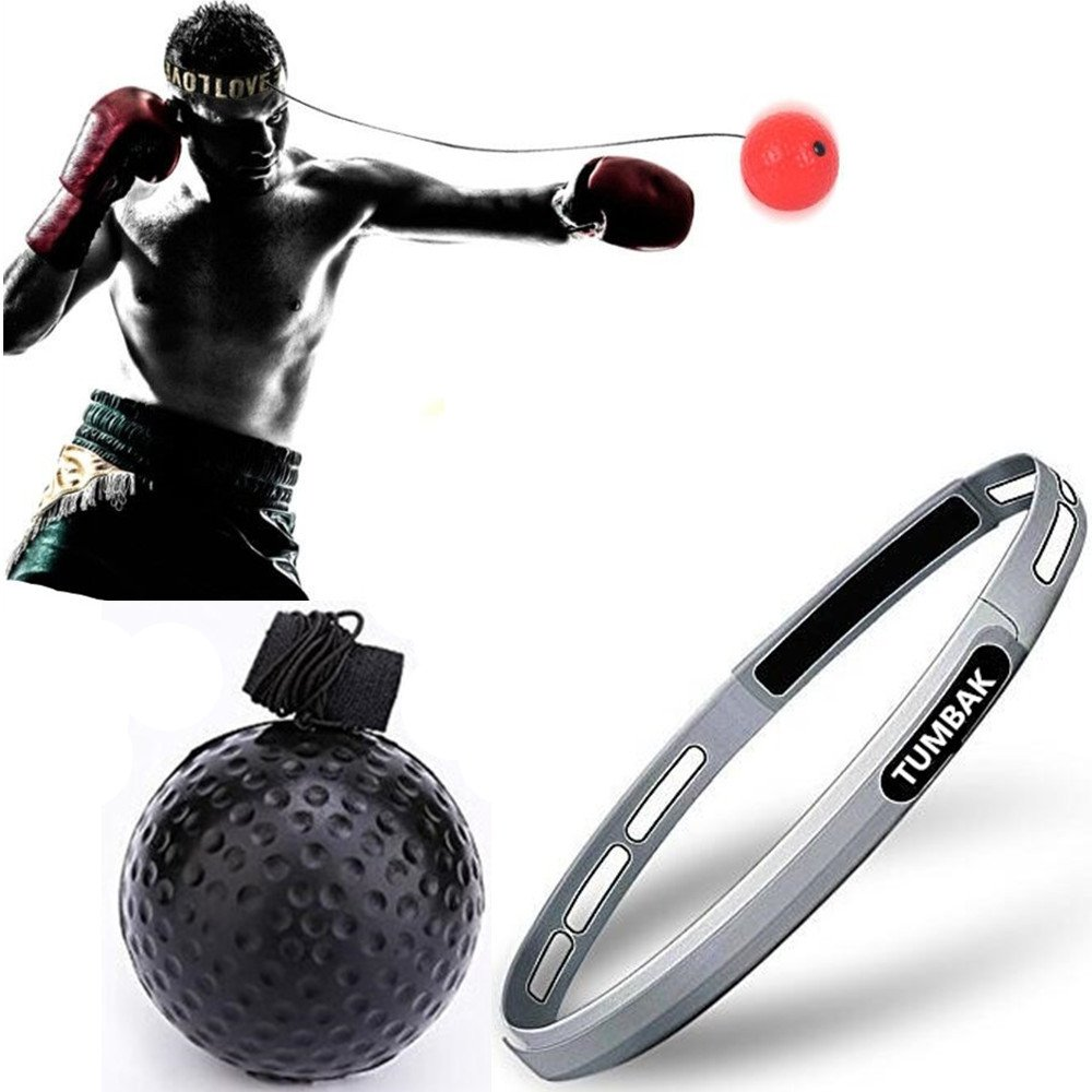 Boxing Fight Reflex Ball for Training to Improve Speed and Reactions, Punch Equipment for Boxing, MMA and Other Combat Sports Revolution Training and Fitness MMA (Black-for Novices) Puxian