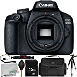 Canon EOS 4000D Digital Camera (Body Only) 8PC Accessory Bundle – Includes 16GB Memory Card + Carrying Case + MORE - International Version (No Warranty)