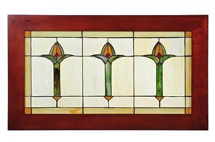 amazon com meyda tiffany 97961 arts crafts bud trio wood frame