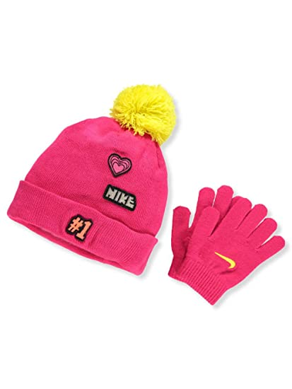 on sale ef9c1 140aa Nike Girls  Beanie   Gloves Set (Youth One Size) - Rush Pink,