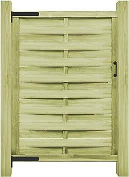 dernière sélection beaucoup à la mode le magasin vidaXL Portail Jardin Bois Pin Imprégné FSC 100x175 cm Vert ...