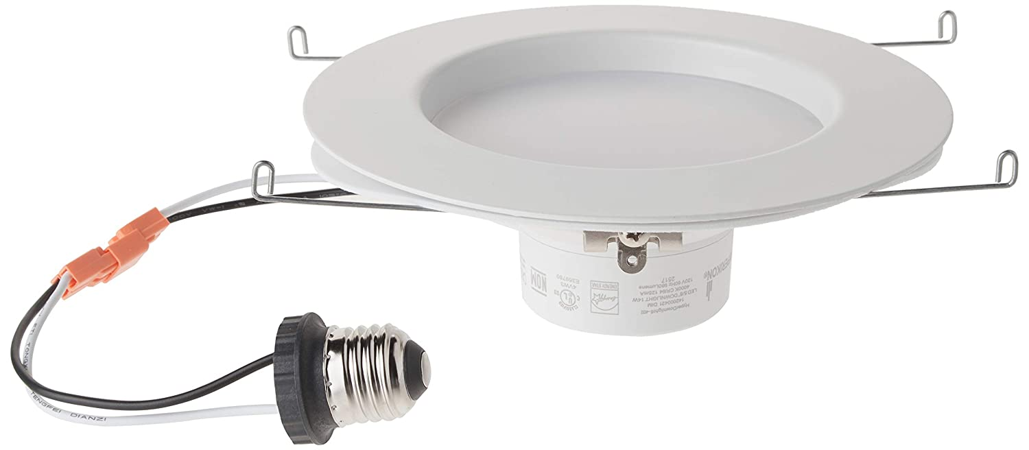 Hyperikon 6 inch led downlight 5 inch compatible dimmable 14w 75w replacement retrofit led recessed lighting fixture 4000k daylight glow