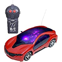 Iyaan™ 2 Function 3D Mini Remote Control Racing car for Kids - New Model Car ( Color May Vary )