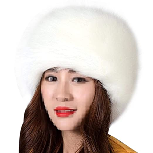 f89bd682e3d134 CHICED Women Winter Warm Soft Fluffy Faux Fur Hat Russian Cossack Beanies  Cap Ladies 2018 Winter Hats, 01 at Amazon Women's Clothing store: