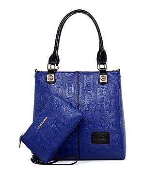 DEERWORD Para mujer Bolsos bandolera Carteras de mano Bolsos totes Carteras de mano con asa Cuero Azul: Amazon.es: Equipaje