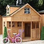 7ft x 7ft Wooden Dorma Playhouse - Br...